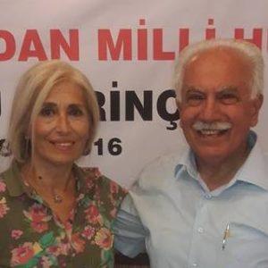 VATAN PARTİSİ GENEL BAŞKANI DOĞU PERİNÇEK VE SEMRA YILMAZ